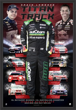 "SOLD OUT! Craig Lowndes Signed ""Titan of the Track"""