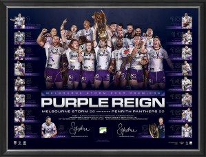 SOLD OUT! Purple Reign 2020 Premiers Dual Signed Lithograph