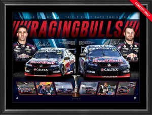 Raging Bulls - Van Gisbergen & Whincup Signed Print