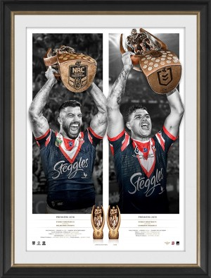 Sydney Roosters 2019 Premiers Dual Signed Icon Series