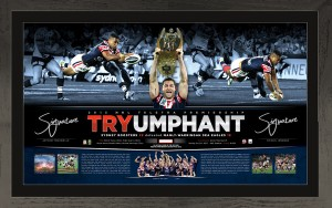 Sydney Roosters 2013 Dual Signed Lithograph