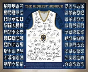 90 Years of the Bronwlow Medal Signed Guernsey