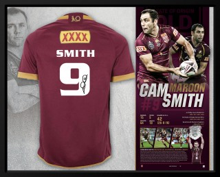 Cameron Smith Signed Queensland Maroons Retirement Jersey