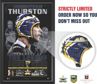Johnathan Thurston - Farewell to a Legend Limited Edition Headgear Display