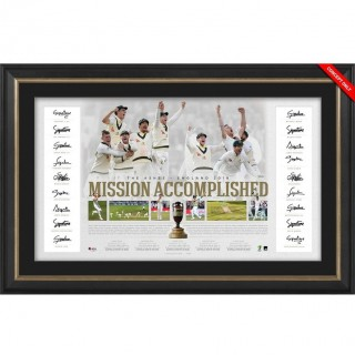 Mission Accomplished - Australia Team Signed Ashes Success Lithograph